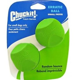 Chuckit Erratic Ball Dog Toy, Small 4.8cm, 2 Pack