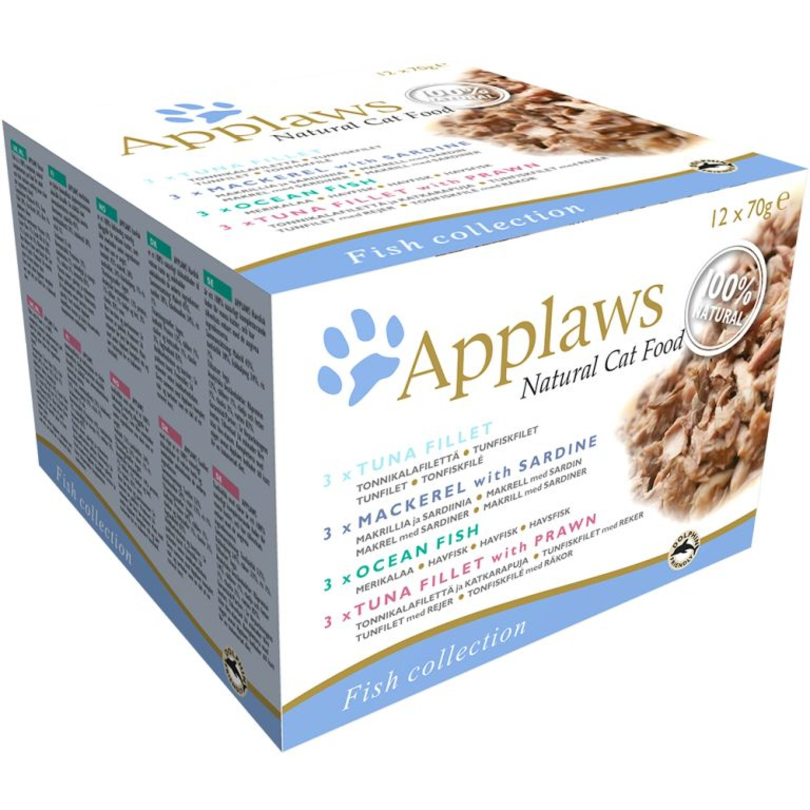 Applaws Cat Wet Food Deluxe Fish Selection Box, 12 x 70g