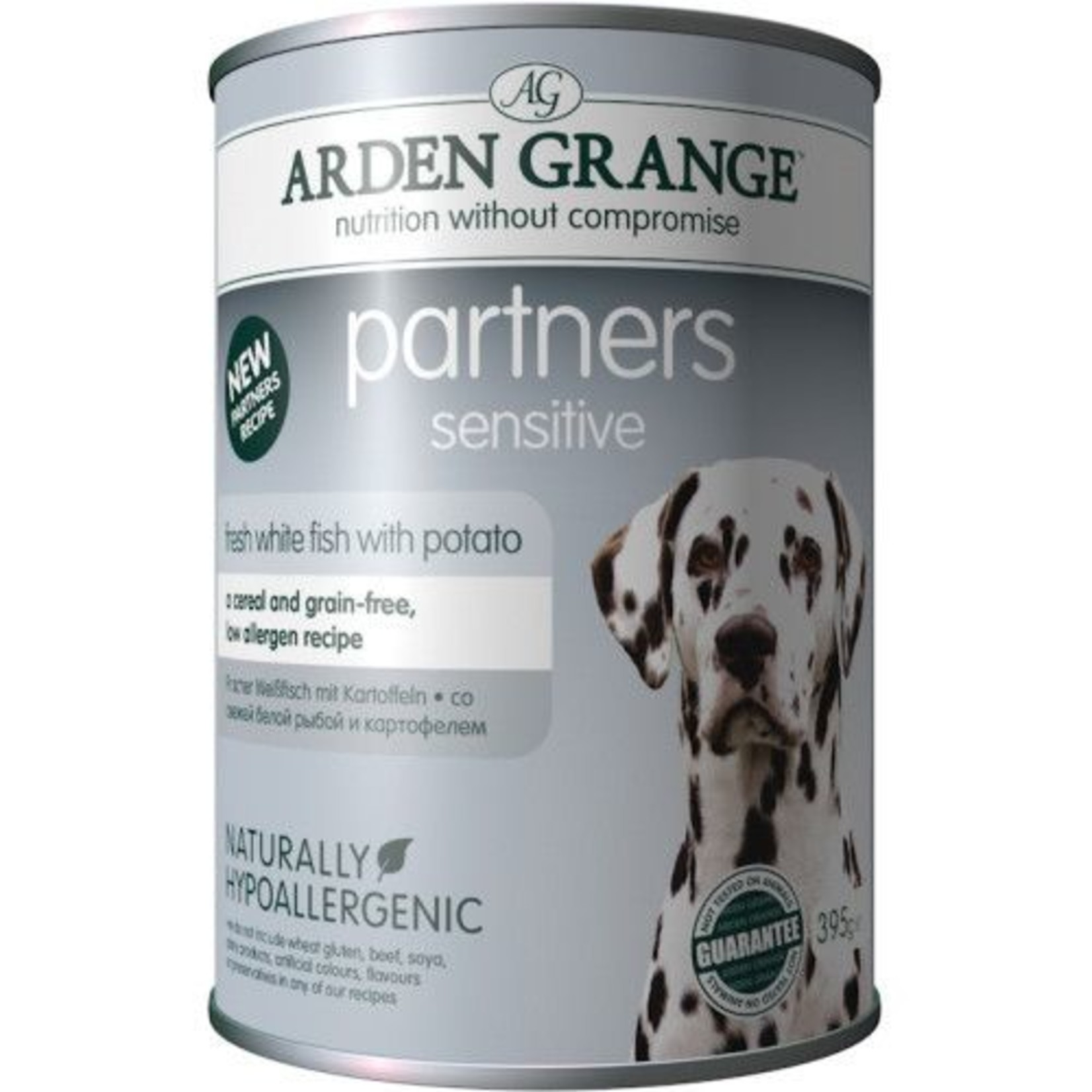 Arden Grange Partners Sensitive Wet Dog Food, White Fish & Potato 395g