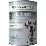 Arden Grange Partners Sensitive Wet Dog Food, White Fish & Potato 395g, pack of 6