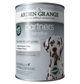 Arden Grange Partners Sensitive Wet Dog Food, White Fish & Potato 395g, pack of 6