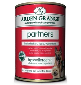 Arden Grange Partners Wet Dog Food, Chicken, Rice & Vegetables 395g, pack of 6
