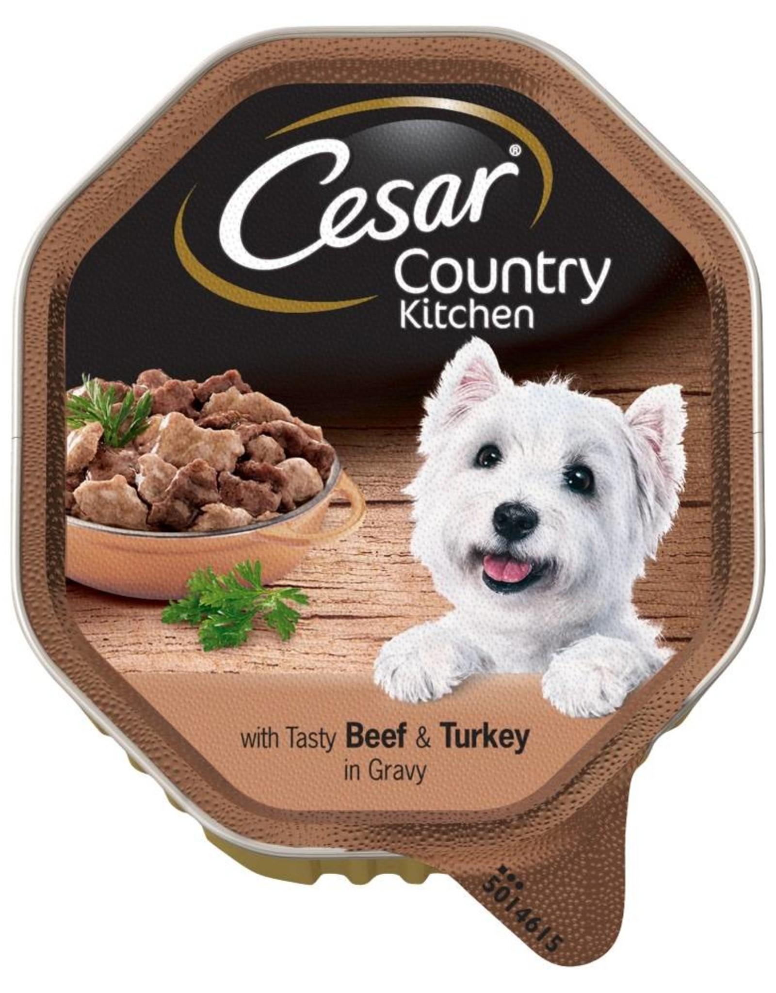 Cesar Adult Wet Dog Food Alutray Beef & Turkey In Gravy, 150g