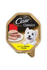 Cesar Adult Dog Wet Food Alutray Chicken & Turkey In Loaf, 150g