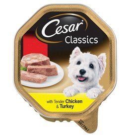 Cesar Adult Wet Dog Food Alutray Chicken & Turkey In Loaf 150g