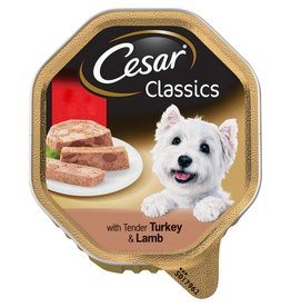 Cesar Adult Dog Food Alutray Turkey & Lamb 150g