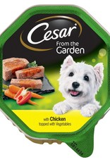 Cesar Adult Wet Dog Food Garden Selection Tray, Chicken topped with Vegetables, 150g