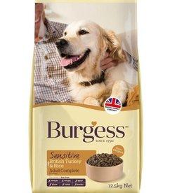 Burgess Sensitive Adult Dog Food, Turkey & Rice 12.5kg x 2