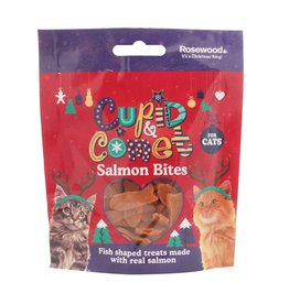 Rosewood Christmas Natural Salmon Bites Treats for Cats 40g
