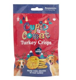 Rosewood Christmas Turkey Crisps Rawhide Treat for Dogs 80g
