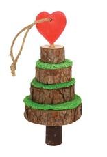 Rosewood Christmas Small Animal Wood & Loofa Tree