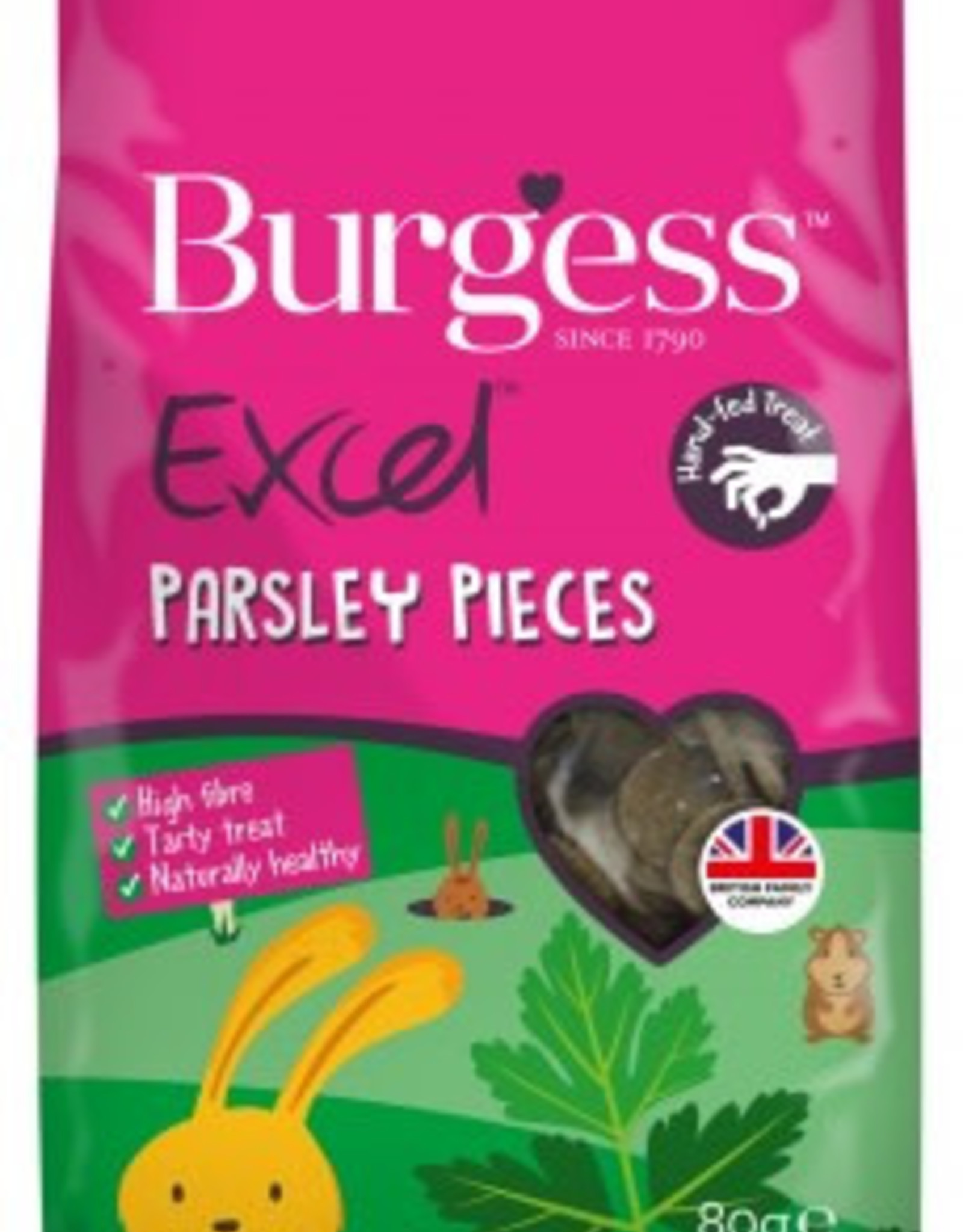 Excel Parsley Pieces Treats for Small Animals 80g - Pet ...