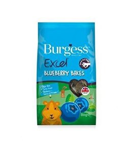 Burgess Excel Blueberry Bakes Treats for Small Animals, 80g