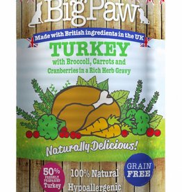 Little BigPaw Turkey with Broccoli, Carrots and Cranberries in a Rich Herb Gravy for Dogs 390g