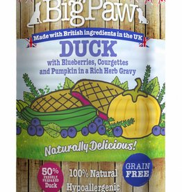 Little BigPaw Duck with Blueberries, Courgettes and Pumpkin in a Rich Herb Gravy for Dogs 12 x 390g