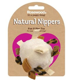 Rosewood Natural Nippers Loopy Fun Ball Toy for Puppies & Small Dogs
