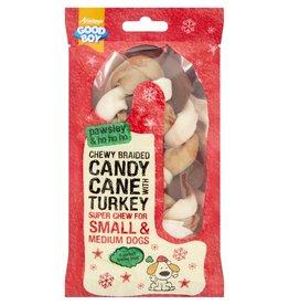 Armitage Christmas Chewy Braided Candy Cane Turkey Dog Chew 125mm 5inch
