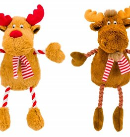Armitage Christmas Hug Tug Reindeer & Moose Dog Toy 400mm/16inch