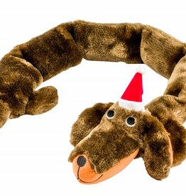 Armitage Christmas Santa Sausage Dog Dog Toy 870mm/34inch