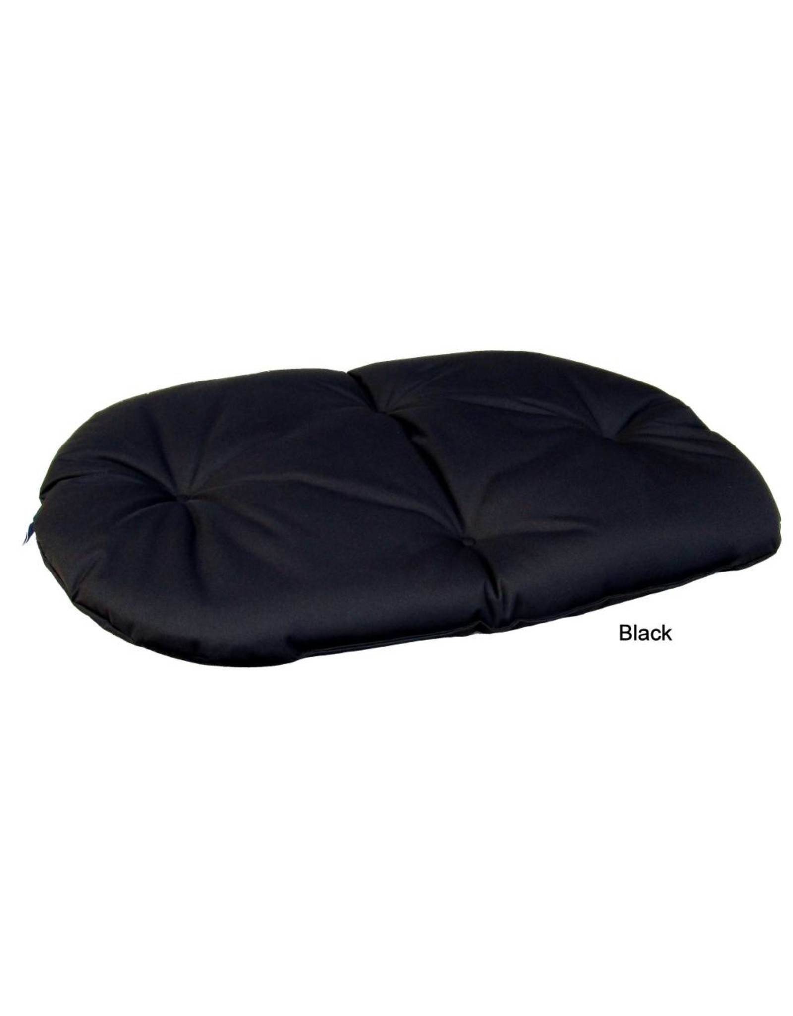 Pets & Leisure Country Dog Heavy Duty Oval Waterproof Cushion Pad in Black