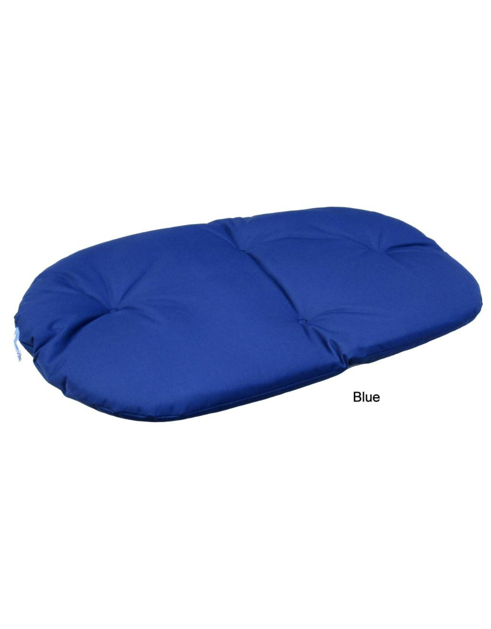 Pets & Leisure Country Dog Heavy Duty Oval Waterproof Cushion Pad in Blue