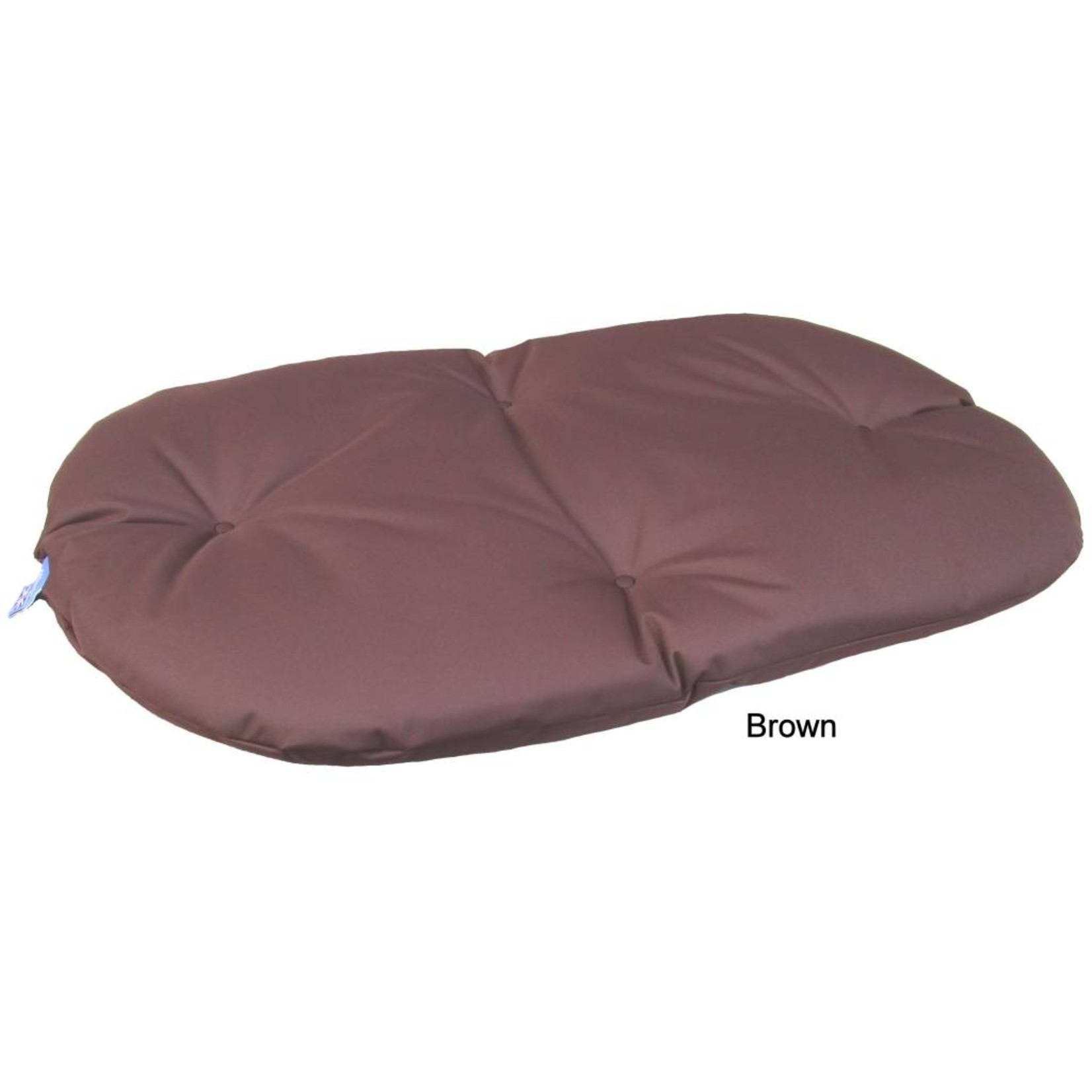 Pets & Leisure Country Dog Heavy Duty Oval Waterproof Cushion Pad in Brown
