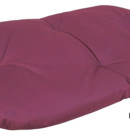 Pets & Leisure Country Dog Heavy Duty Oval Waterproof Cushion Pad in Burgundy