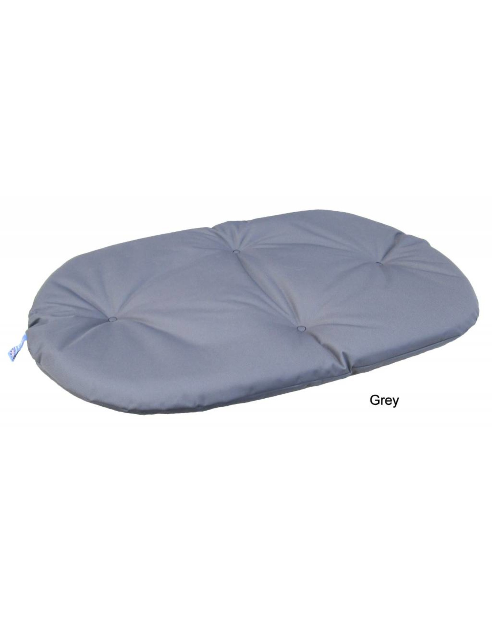Pets & Leisure Country Dog Heavy Duty Oval Waterproof Cushion Pad in Grey