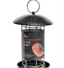 Tom Chambers Hammered Steel Fat Ball Wild Bird Feeder