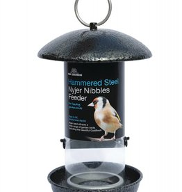 Tom Chambers Hammered Steel Nyjer Seed Wild Bird Feeder