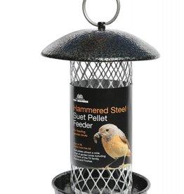 Tom Chambers Hammered Steel Suet Pellet Wild Bird Feeder