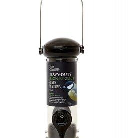Tom Chambers Heavy Duty Flick n Click Wild Bird Seed Feeder - 2 port