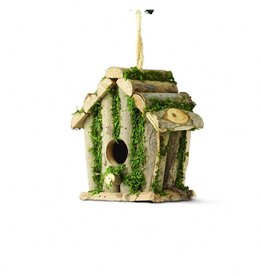 Tom Chambers Square Log Hut Rustic Wild Bird Nest Box