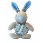 Happy Pet Little Rascals Knottie Bunny Dog Toy, Blue