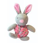 Happy Pet Little Rascals Knottie Bunny Dog Toy, Pink