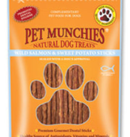 Pet Munchies 100% Natural Dog Treats, Wild Salmon & Sweet Potato Sticks 90g