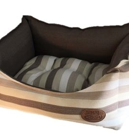 Snug & Cosy Brown Stripe Pet Bed