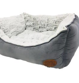 Snug & Cosy Novara Grey Rectangular Pet Bed