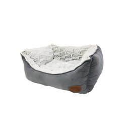 Snug & Cosy Novara Grey Rectangular Pet Bed