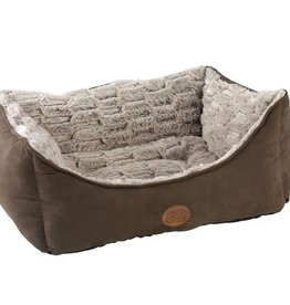 Snug & Cosy Novara Rectangular Brown Dog Bed