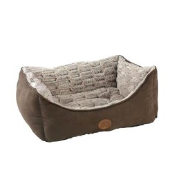 Snug & Cosy Novara Brown Rectangular Dog Bed