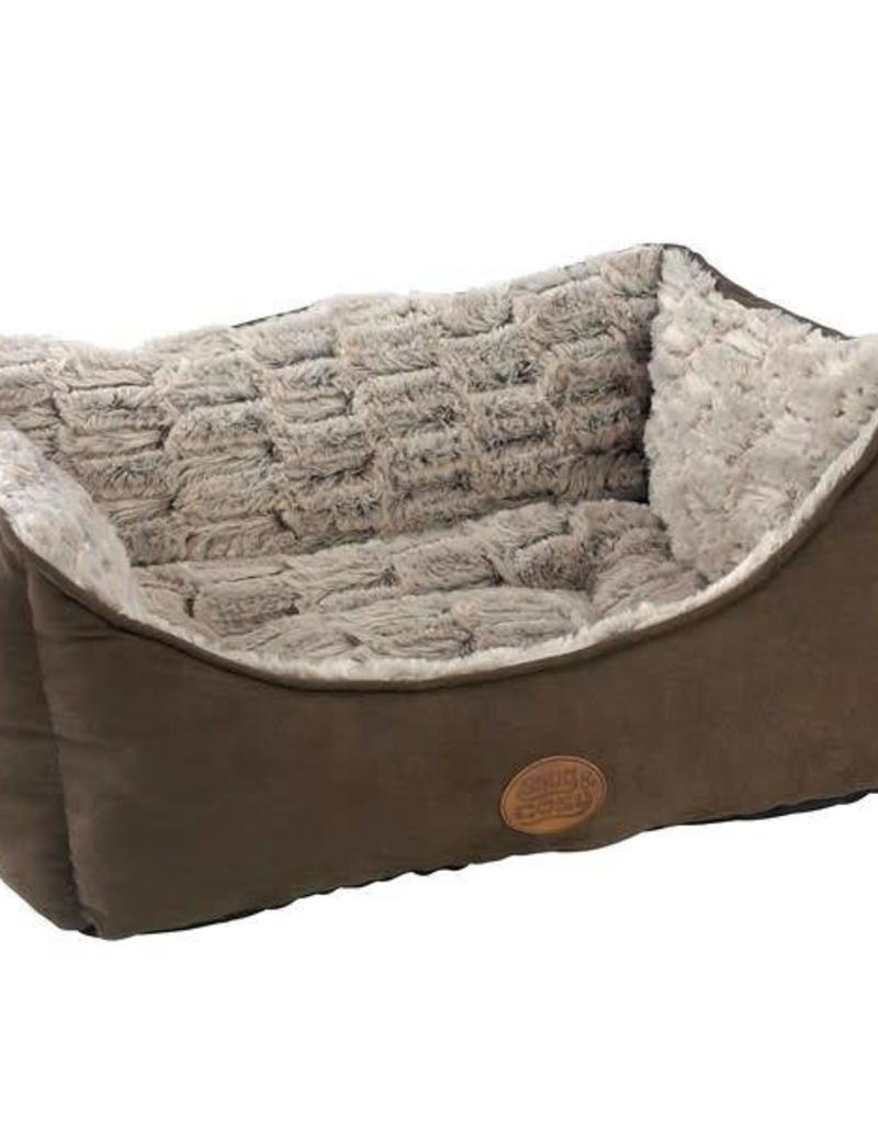 Snug & Cosy Novara Brown Rectangular Dog Bed
