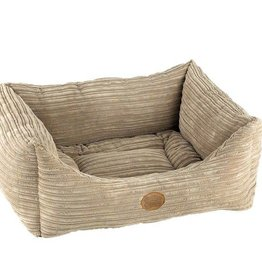 Snug & Cosy Rectangle San Remo Pet Bed, Mink Cord