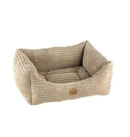 Snug & Cosy Rectangle San Remo Pet Bed, Mink Cord
