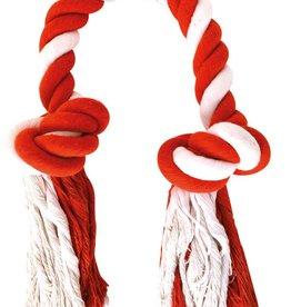 Happy Pet Christmas Doggie Delights Candy Stripe Knots Dog Toy Kingsize