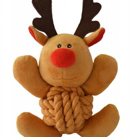 Happy Pet Christmas Knottie Reindeer Dog Toy 23cm