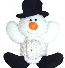 Happy Pet Christmas Knottie Snowman Dog Toy 20cm