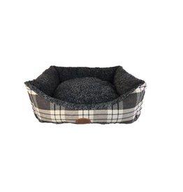Snug & Cosy Kensington Check Grey Dog Bed