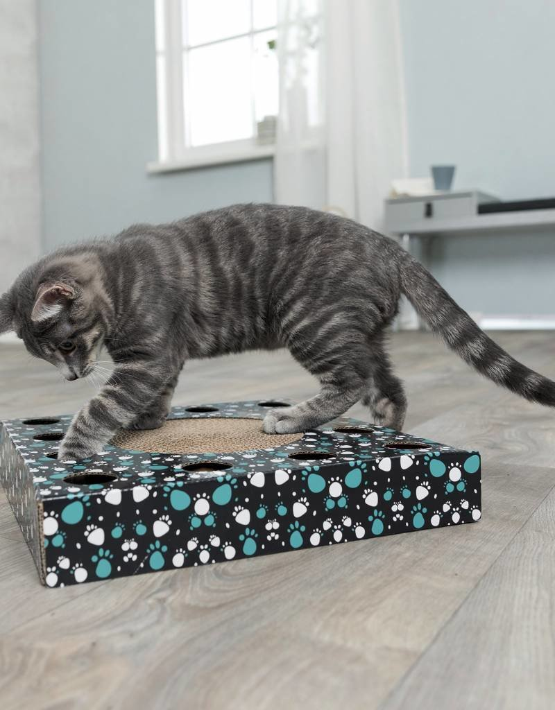 Trixie Cardboard Scratching Cat Toy with Play Ball