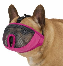 Trixie Muzzle for Short Nose Dog Breeds, in Pink